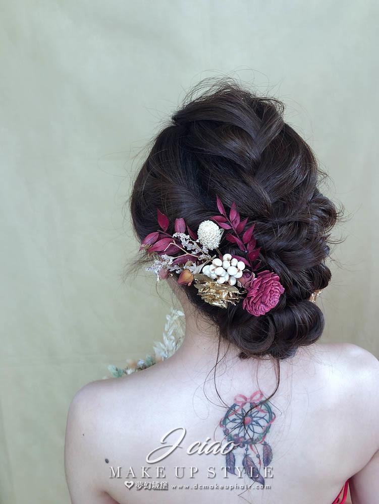 【新秘婕喬】新娘造型創作 / 乾燥花低盤髮