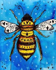 I drew a cute bee. Buzz. 🐝