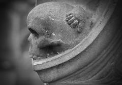 St Cuthbert's, Edinburgh (daraparsons) Tags: blipfoto cemetery dark edinburgh grave graveyard mono skull gothic memorial