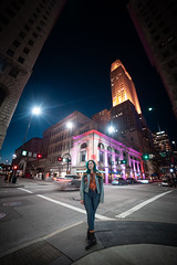 Looming (joshhansenmillenium) Tags: canon canon6d 6d photography night sunset city urban modeling model freelance river ohio cincinnati covington longexposure long exposure ferris wheel ferriswheel bw portrait bokeh