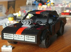 Dodge Charger in Black (captain_joe) Tags: toy spielzeug 365toyproject lego minifigure minifig moc car auto 7wide dodge charger