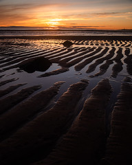 Sunrise at the beach (PeskyMesky) Tags: aberdeen sunrise sunset aberdeenbeach water scotland sea ocean sand pattern landscape canon canon5d eos