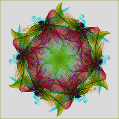 Spirographic (Nick Biswell) Tags: sony sonydslra580 sonya580 tamron tamrondt18270mmf35f63 tamron18270 lightpainting photoshop flipped inverted squareformat squarecrop spirograph spirographic kaleidoscope kaleidoscopic art flower magenta green cyan shape abstract pattern buckinghamcameraclub
