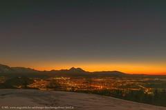Blaue Stunde am Dax Lueg (Augenblicke vom Salzburger u. Berchtesgadener Land) Tags: salzburg österreich natur landschaft daxlueg heuberg blauestunde abendrot berge berhctesgadenerland