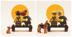 LEGO Spooners (thereeljames) Tags: lego normanrockwell painting recreation sunset love minifigures legophotography toyphotography toyphotographers podcast podcasting art littlespooners