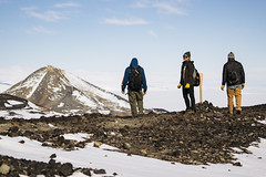 Antarctic Hike (JeffAmantea) Tags: mcmurdo station antarctica nsf hike hiking obhill humans people human snow mountain hill landscape outdoor outside cold sonyalpha sony alpha a7ii 70200 f4
