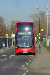 SLN 12451 - SN67XES - WOOLWICH COMMON QE HOSPITAL - TUE 26TH FEB 2019 (Bexleybus) Tags: woolwich common qe queen elizabeth hospital se18 stadium road stagecoach london selkent adl dennis enviro 400 mmc tfl route 161 12451 sn67xes hybrid