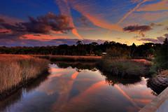 Evening, Salt marsh, Hernanado County, Florida (klauslang99) Tags: klauslang evening salt marsh hernando county florida water landscape clouds