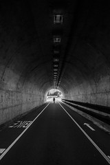 The Long Walk (Thomas Hawk) Tags: america bunkerroadtunnel california marin marincounty marinheadlands northbay sausalito usa unitedstates unitedstatesofamerica bw tunnel fav10 fav25 fav50 fav100