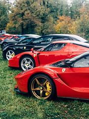 Ferrari Lineup on Grass (Mattia Manzini Photography) Tags: ferrari laferrari enzo gt4 ff california f430 supercar supercars cars car carspotting nikon d750 v12 v8 red black hypercar automotive automobili auto automobile autodromo monza finalimondiali finalimondialiferrari limited hybrid