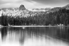 Frozen in time (PeterThoeny) Tags: lakemamie inyonationalforest mammothlakes california water mountain mountainside rock landscape lake sky day cloud cloudy forest outdoor reflection waterreflection tree serene wood longexposure ndfilter neutraldensityfilter monochrome blackandwhite sony a7 a7ii a7mii alpha7mii ilce7m2 fullframe vintagelens dreamlens canon50mmf095 canon 1xp raw photomatix hdr qualityhdr qualityhdrphotography fav200