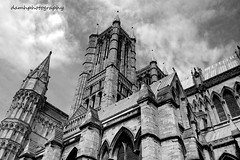 Lincoln Cathedral (damhphotography) Tags: lincoln cathedral monochrome skies architecture history blackandwhite