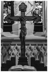 All Saints' Church Cross (nickyt739) Tags: all saints church cross wittenberg germany deutschland europe chapel religion christian christianity jesus holy nikon dslr d750 fx flickrsbest black white bw noir monochrome