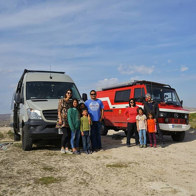 Met this awesome family from Romania (@brktravels) on their way to explore Siberia. They are in this amazing custom camper diy build from a 1989 Mercedes T1 4x4 van that was formerly a German fire truck. I've been really looking at these T1 vans that neve