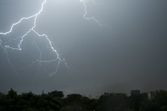 Lightshow (jeremyhughes) Tags: singapore lightning sky storm thunder thunderstorm city urban weather rain raining electricalstorm night nighttime nikon d300s 1855mmf3556 lightningtrigger
