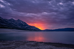 Sunrise at the Cline RIver inlet to Abraham Lake, David Thompson Country, Alberta (www.clineriverphotography.com) Tags: yeartaken 2015 landscape davidthompsoncountry water lake alberta mountain abrahamlake canada location clineriver sunrisesunset light