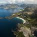 Ilhas Lofoten lá do alto