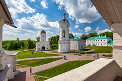 Church-bell tower of St. George in Kolomenskoye (Moscow, Russia) (KonstEv) Tags: belfry church orthodox bell cross religion kolomenskoe moscow russia tower architecture building house sky