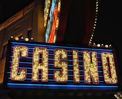 One Word - Casino (podolux) Tags: 2019 sony sonya7 a7 ilce7 sonyilce7 postprocessing snapseed night nighttime bulbsign sign signs oneword onewordcasino fremontstreet downtownlasvegas clarkcounty