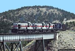 The Wattis Turn (jamesbelmont) Tags: train railroad railway locomotive utahrailway coal wattis gordoncreek alco rsd4 rsd5 rsd12 trestle