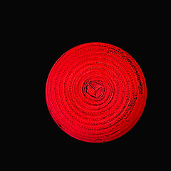 Red Hat (byzantiumbooks) Tags: circle red blackbackground