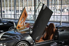 IMG_7205 (Uno100) Tags: spyker cars laviolette c 8 spyder green silver interiour amsterdam international motor show 2019 2001 front back door 2