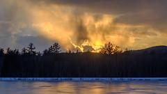 sunset over ingalls pond, maine (jtr27) Tags: dscf4288xl jtr27 fuji fujifilm xt20 manualfocus maine newengland ingallspond ice winter landscape pond minolta mc rokkor rokkorpf 55mm f17 sunset