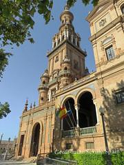 Tower, Plaza de España, Seville, Spain (geoff-inOz) Tags: plazadeespaña seville tower heritage building historic architecture españa andalusia spain