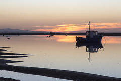 Meols Reflection (David Chennell - DavidC.Photography) Tags: meols reflection wirral sunset silhouette merseyside boat twilight dusk