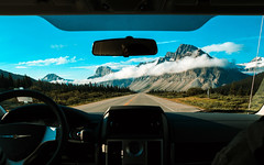 Rockies (Mathijs Buijs) Tags: road rv trailer nature rocky mountains canadian national park jasper banff clouds landscape canon eos north america alberta british columbia 400d