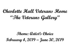 "Charlotte Hall Veterans Home Gallery February 4 to June 30, 2019 • <a style=""font-size:0.8em;"" href=""http://www.flickr.com/photos/124378531@N04/47052359242/"" target=""_blank"">View on Flickr</a>"
