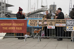 Excel Demo (thulobaba) Tags: demo activist campaign arms industry newham excel london brass band trumpet saxophone musician politics