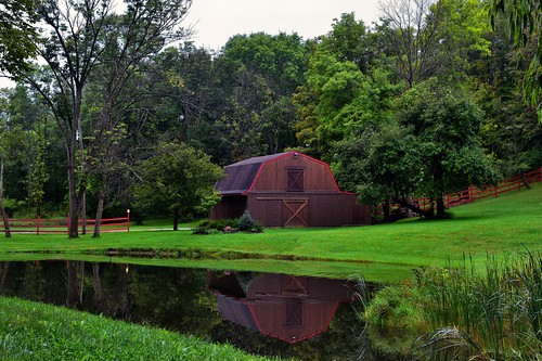 Reflections of a Barn with Red Trimming (Cuyahoga Valley National Park)