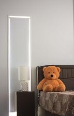 Contrast (MOMENTmak3r) Tags: contrast warm white teddy 50mm nikon nikkor