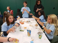 Making Ornaments At School (Joe Shlabotnik) Tags: oliviav violet ameliae isabellaa galaxys9 cameraphone december2018 2018