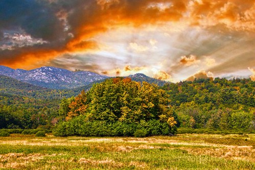 Lake Placid  - New York ~  Autumn Colours in the Adirondack Mountains - Sunset