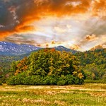 Lake Placid  - New York ~  Autumn Colours in the Adirondack Mountains - Sunset thumbnail