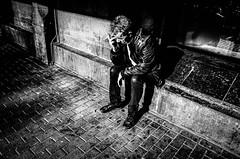 singly (Gerrit-Jan Visser) Tags: amsterdam blackandwhite bnw centralstation man singly smoking streetphotography