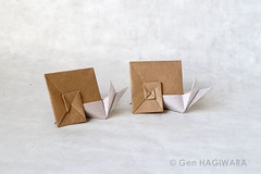 15°カタツムリ / 15°Snail (Gen Hagiwara) Tags: origami paper folding art craft papercraft animal genhagiwara snail shell spiral