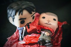 Alternate Ending (matthileo) Tags: tabletop still stilllife tabletopphotography toy toys figure action funko pop vinyls funkopopvinyls funkopop corvo dishonored video game videogame gameofthrones littlefinger petyrbaelish petyr baelish blood red assassination knife sword dagger tumblr twitter