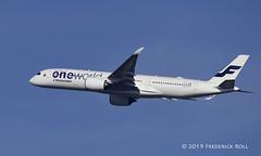 Finnair A350 ~ OH-LWB (© Freddie) Tags: finnair ohlwb airbus a350 a359 heathrow londonheathrow stanwell lhr egll departure27r fjroll ©freddie 27r 27rdeparture