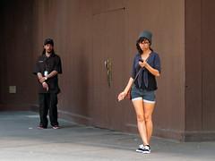 Smoking Area (Multielvi) Tags: new york ny nyc city manhattan penn station smoking cigarette couple man woman street candid