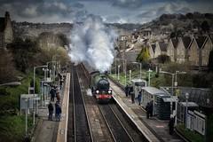 Nostalgia (Nige H (Thanks for 15m views)) Tags: steam steamtrain train railway bath cathedralexpress nostalgia nostalgic history england oldfieldpark