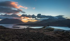 Dawn Watch (yabberdab) Tags: sunrise mountain loch scotland torridon