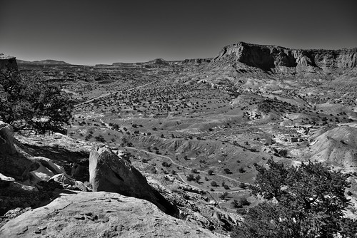 Sometimes When One Looks Back (Black & White, Capitol Reef National Park)