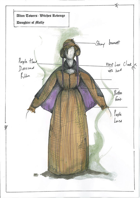 Dungeon Costume Drawings - Daughter of Molly
