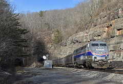 Alleghany Ascent (Tristan_Miller) Tags: amtrak passenger train the cardinal lewis tunnels east alleghany va virginia