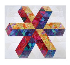 """LIGHT GEOMETRY"" (Patchwork Daily Desire) Tags: geometry 3d patchworkdailydesire quilting epp flower cozy crafts binding batting tree triangles trianglesquilt"