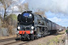 35018 British India Line, Attenborough 17/3/19 (David K- IOM Pics) Tags: br british rail steam locomotive loco engine mainline 35018 india line bullied light pacific merchant navy attenborough west coat