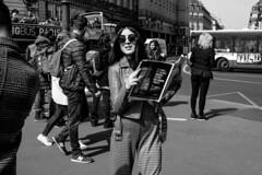 Beautiful Woman in Paris (nichols_) Tags: streetphotography street beret fujixt3 documentaryphotography fujifilmxt3 beautifulwoman blackandwhite paris france